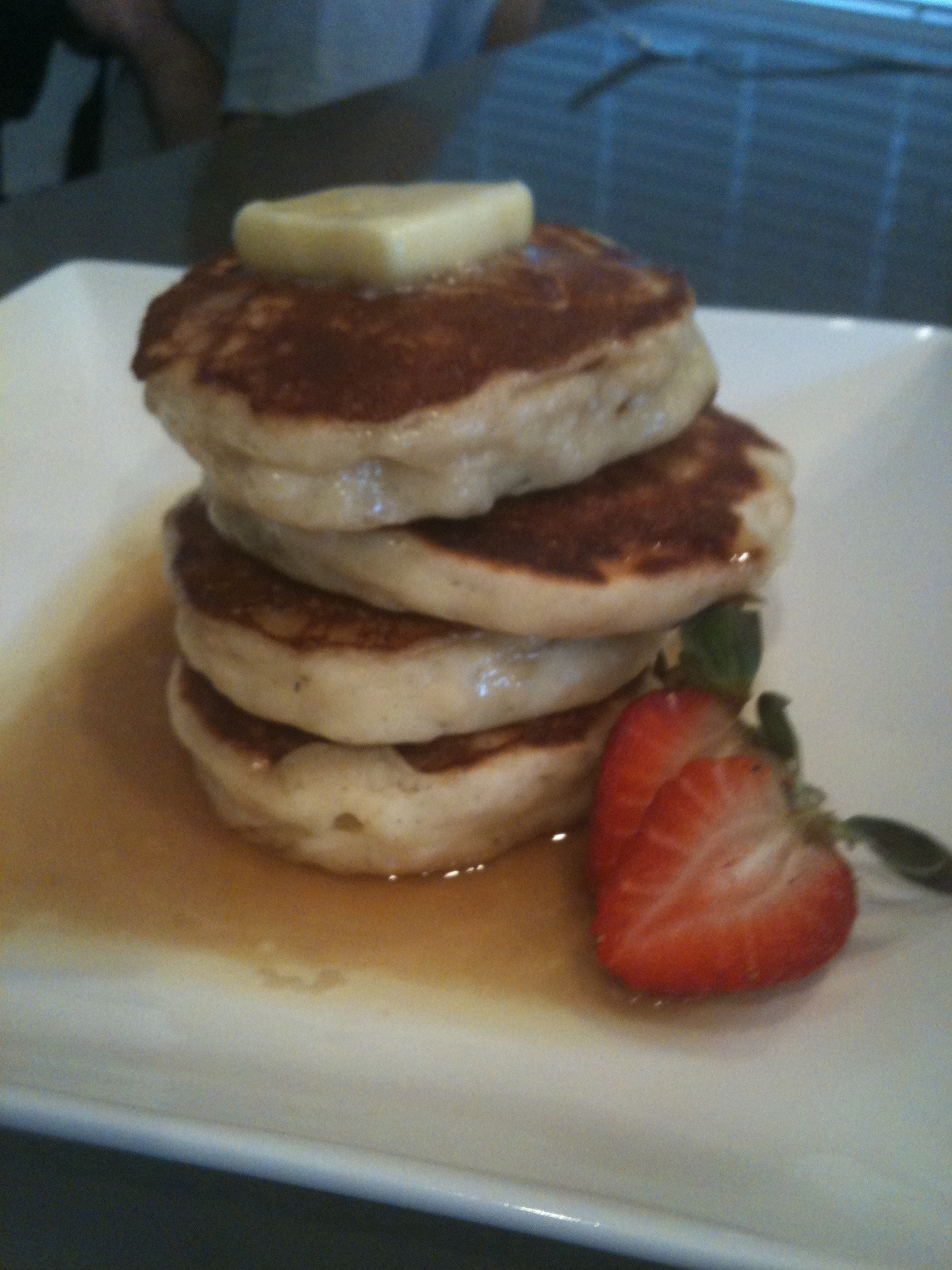 how to make pancakes without eggs and no baking powder