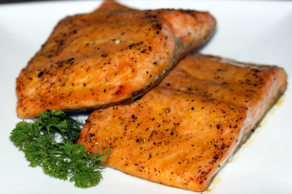 Glazed Roasted Salmon