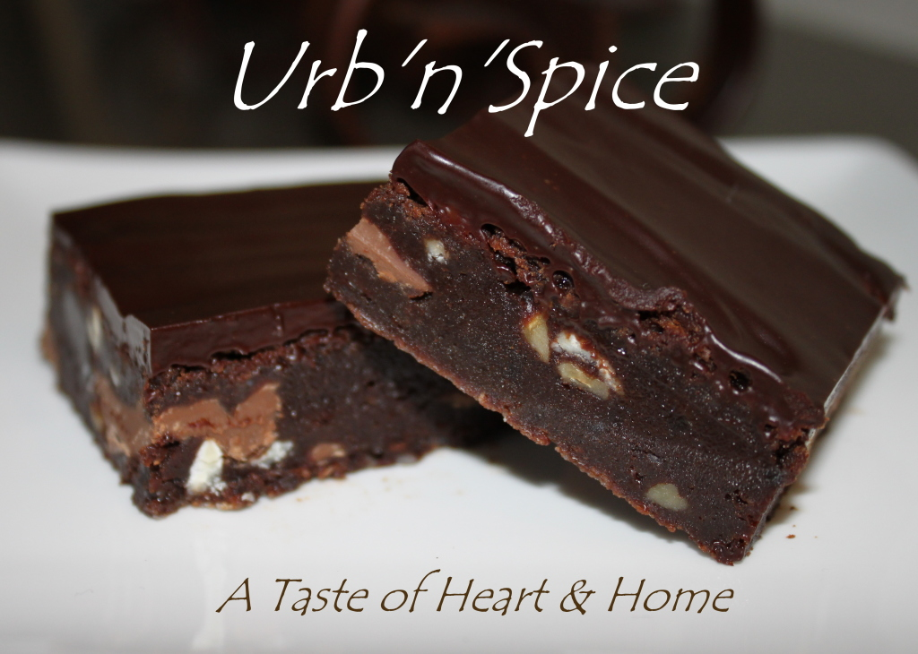 Quadruple Chocolate Brownies by Urb'n'Spice