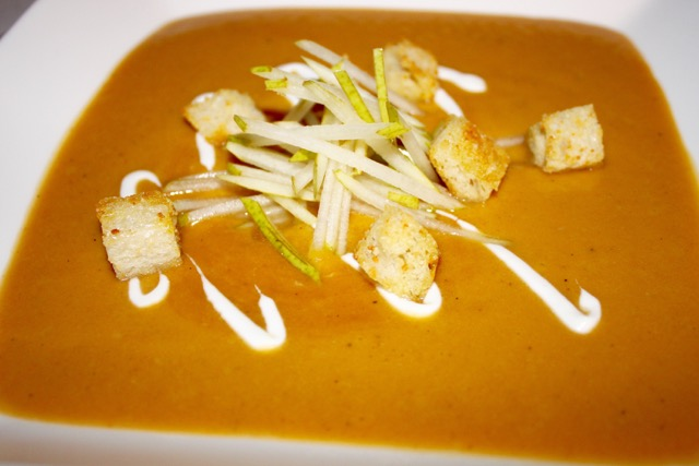 Roasted Butternut Squash and Caramelized Pear Soup - UrbnSpice